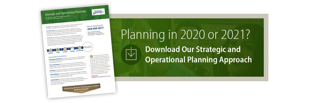 2020 Nonprofit Strategic Planning with Strategic Enhancement Group