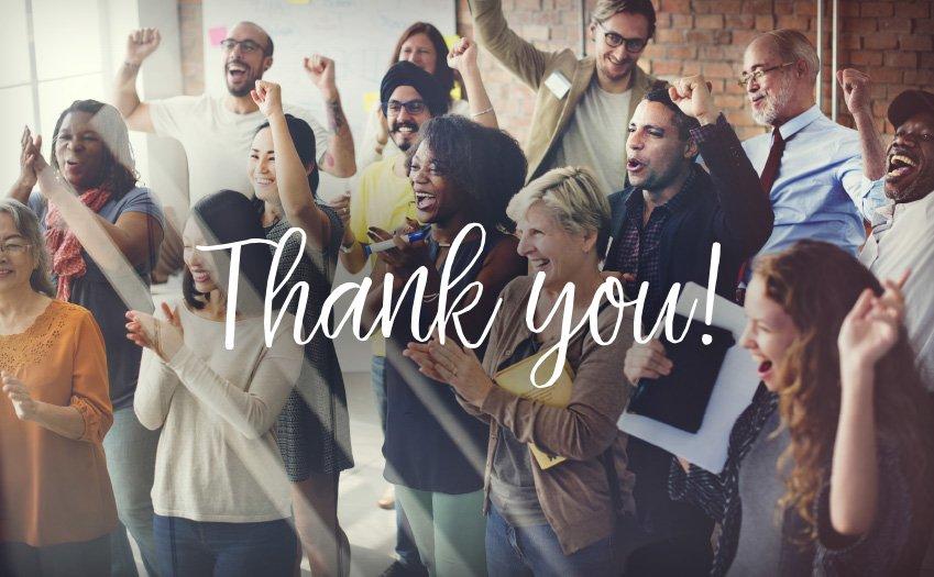 Saying Thank You. Really Saying Thank You!